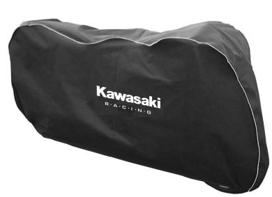 Black 'In Garage' Motorcycle Cover Large Size