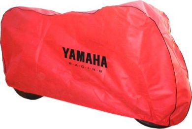 Red 'In Garage' Motorcycle Cover Large Size